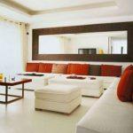 büyük salonlar için yatak ayna kullanımı