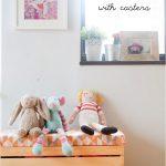 çocuk odası dekorasyonu için ahşap kasalar