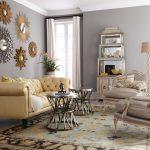 dekoratif aynalar ile salon duvar dekorasyonu
