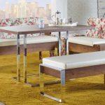 estetik tasarım banklı mutfak masaları 2016