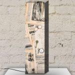 gazete baskılı kanvas lambader modeli 2016