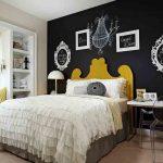 kara tahta boyası ile yatak odası fikirleri 2016