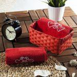kırmızı dekoratif banyo havlu sepeti 2016