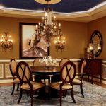 lüx ve ihtişamlı yemek odası dekorasyonu 2016