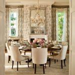 lüx ymek odası dekorasyonu ve yuvarlak yemek masası