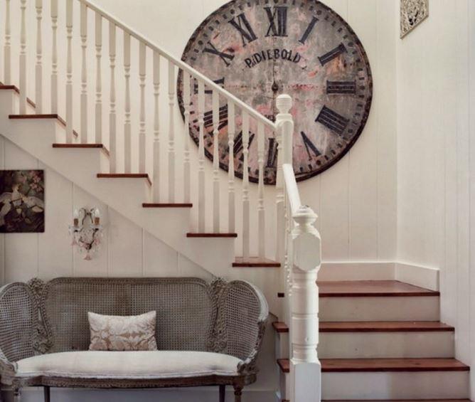 Merdiven Duvarı Için Büyük Dekoratif Duvar Saati Dekorblog