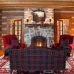 ekose desenleri ile sıcak bir salon