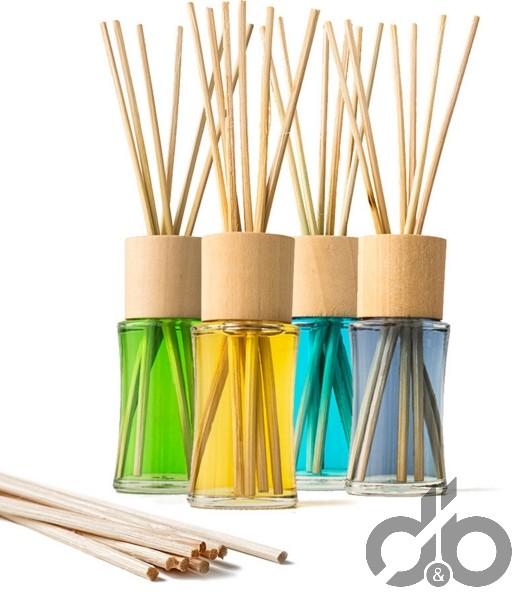 4 lü renkli bambu çubuklu banyo koku seti