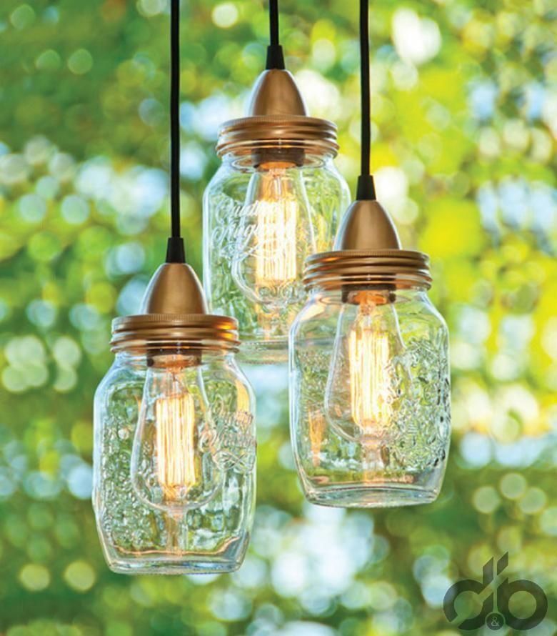cam kavanozlardan sarkıt lamba yapımı