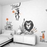 çocuk odaları için sevimli hayvanlar duvar çıkartmaları