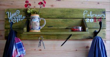 doğal ahşap dekoratif askılıklar 2016