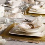 Jesse Gold 86 Parça Premium Bone China Yemek Takımı