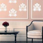 klasik dekorasyonlar için zarif duvar çıkartmaları