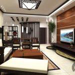 modern dekore edilmiş wooden oturma odası