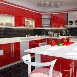 modern kırmızı mutfak dekorasyonu 2016