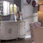 panel mobilya beyaz klasik büfe modeli