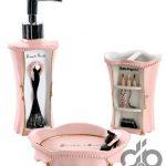 pembe dekoratif banyo seti fiyatı 59