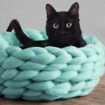 renkli tığ işi evcil hayvan yatakları