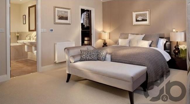 vizon rengi yatak odası dekorasyonu