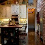 wooden tarzı dekore edilmiş mutfak örneği
