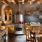 wooden tarzı sıcak mutfak dekorasyonu