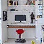 küçük ve modern ev ofis düzeni