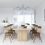 yemek odasında iskandinav estetiği