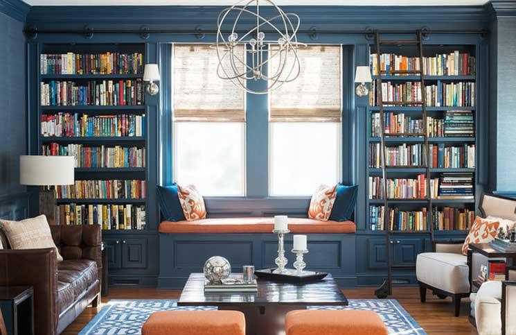 yerden tavana kitaplık ve raflar