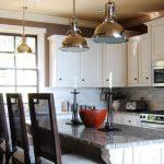 dekoratif metal sarkıtlar ile mutfak dekorasyonu