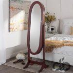 dekoratif oval aynalı takı dolabı modeli