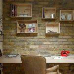 doğal ve sıcak home ofis dekorasyonu