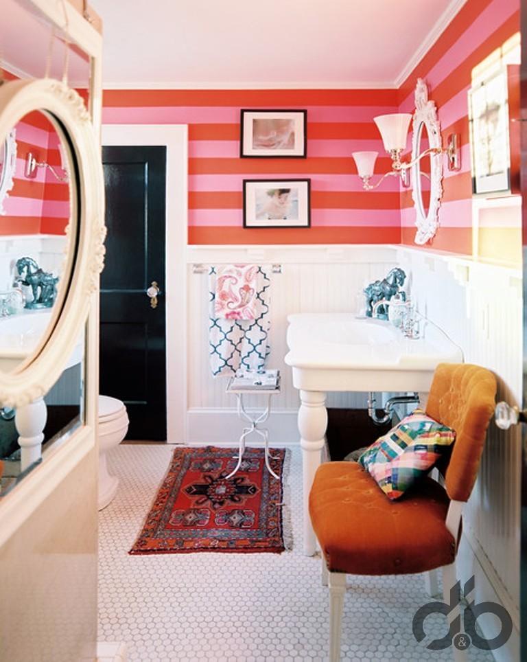eklektik banyo dekorasyonu