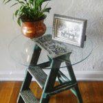 küçük merdivenden dekoratif sehpa yapımı