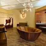 modern ahşap banyo dekorasyonu