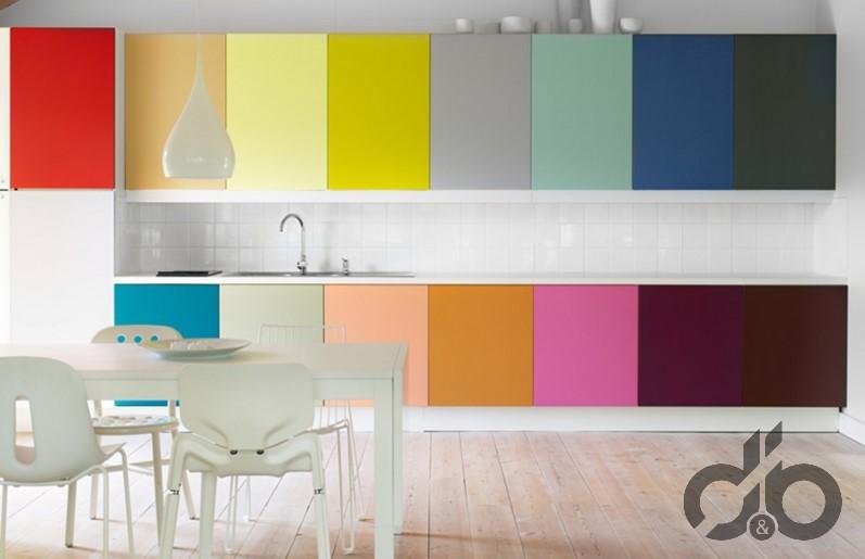 modern renkli mutfak dolapları
