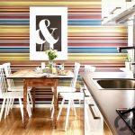mutfak dekorasyonu çizgili duvarlar