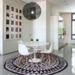 mutfak için yuvarlak dekoratif halı