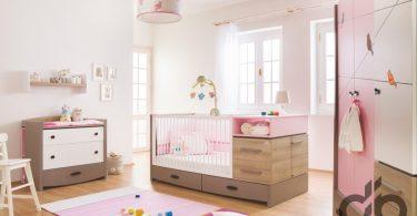 Newjoy Pink Birdy  bebek odası takımı 2