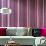 oturma odası dekoratif çizgili duvar kağıtları