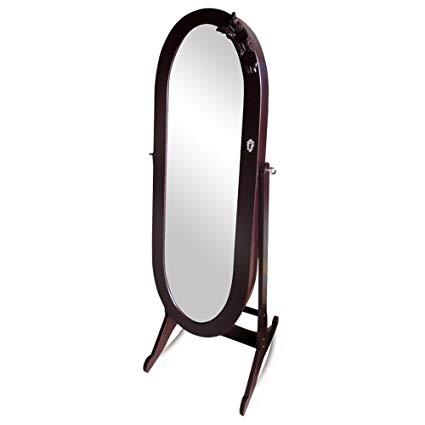 Oval Aynalı Takı Dolabı