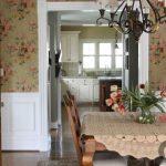 vintage tarzı çiçekli duvar kağıtları