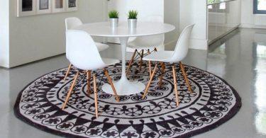 yuvarlak halılar ile mutfak dekorasyonu
