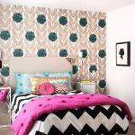 zigzag desenli yatak örtüleri