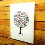aile ağacı dekoratif ahşap tablo