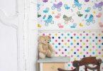 çocuk odaları için duvar kağıdı fikirleri 2016