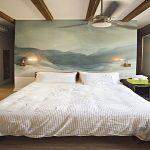 dekoratif tuval yatak başı dekorasyonu