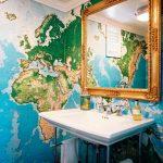 dünya haritası dekoratif duvar kağıdı