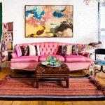 eklektik salon dekorasyon fikirleri