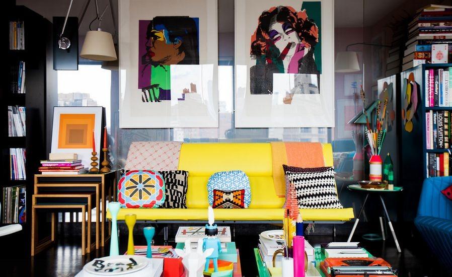eklektik tarzı salon dekorasyonu 2016