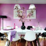 mor yemek odası dekorasyon fikirleri